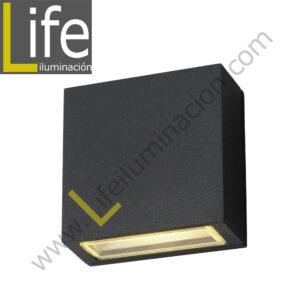 112/LED/6W/30K-GREY/M APLIQUE EXTERIOR 6W LED 3000K IP54 COLOR GRIS MULT