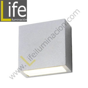 112/LED/6W/30K-WH/M APLIQUE EXTERIOR 6W LED 3000K IP54 COLOR BLANCO MU