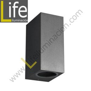 116/LED/24W/30K-GREY/M APLIQUE EXTERIOR 2X12W LED 3000K IP54 COLOR GRIS M