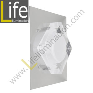 3000/LED/3W/30K/M APLIQUE PARED LED 3W 30K 12.5X12.5X6.5CM/240LM MUL