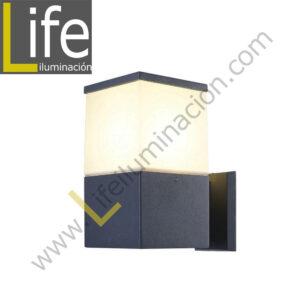 HY0003AUP-LED/30K APLIQUE 40 LED 3.2W/3000K ACERO INOX IP44