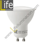 GU10/LED/9W/30K-B/M LAMPARA LED 9W GU10 3000K MULTIVOLTAJE DOBLE BLISTER