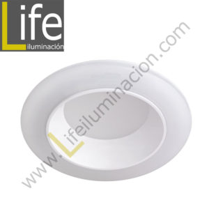 600/LED/12W/30K/WH DOWNLIGHT LED 12W 3000K 90° IP44 C/BLANCO 220V/60