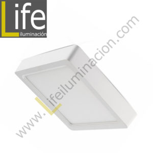 101C/LED/12W/30K/WH/M DOWNLIGHT LED CUAD. ADOSAR 12W/30K BLANCO MULTIVOL