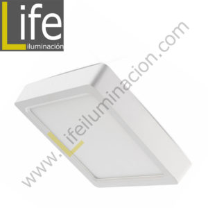 101C/LED/12W/60K/WH/M DOWNLIGHT LED CUAD. ADOSAR 12W/60K BLANCO MULTIVOL