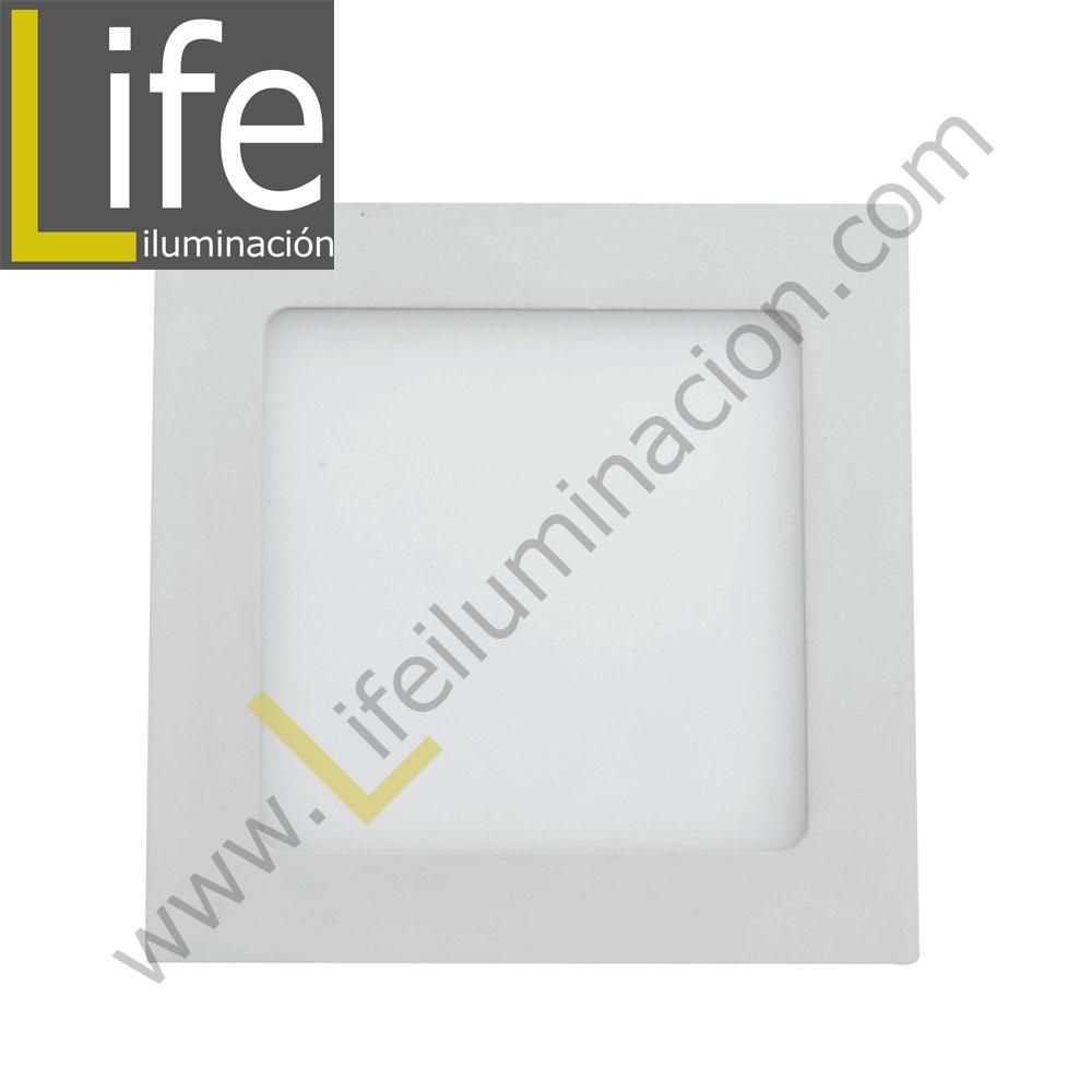 104CE/LED/6W/30K/WH/M SPOT LED CUAD.EMP.6W/30K/WH 9.7X9.7X4CM MULTIVOLTA