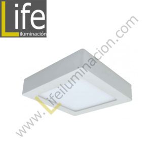 106CA/LED/15W/30K/WH/M DOWNLIGHT LED CUAD.ADO.15W/30K/BL 17.5X4.3CM/ MULT 1350LM