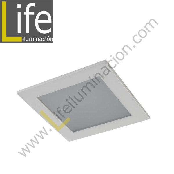 DOWN/SQ/LED/12W/30K/WH DOWNLIGHT LED CUAD. EMP. 12W/30K/WH 17.2X17