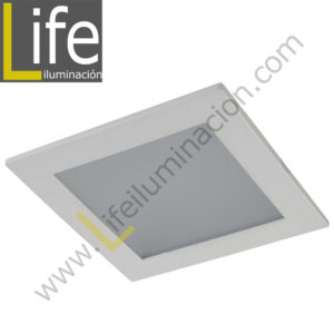 DOWN/SQ/LED/12W/60K/WH DOWNLIGHT LED CUAD. EMP. 12W/60K/WH 17.2X17.2X2CM