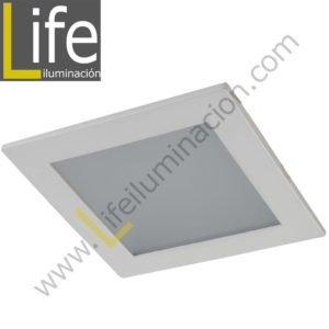 DOWN/SQ/LED/18W/60K/WH DOWNLIGHT LED CUAD. EMP. 18W/60K/WH 22.5X22.5X2CM