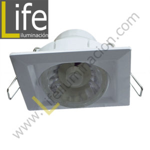 SPOT/SQ/LED/8W/27K/WH SPOT CUAD.LED INTEGR.DIRIGIB.8W 27K BLANCO 9.5X9.5