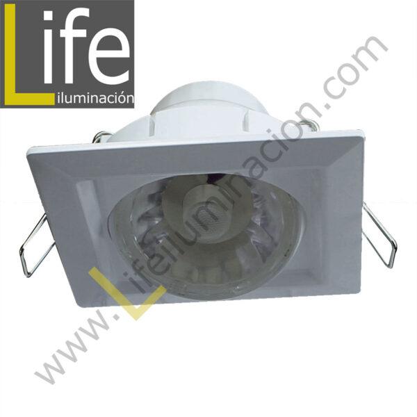 SPOT/SQ/LED/8W/27K/WH SPOT CUAD.LED INTEGR.DIRIGIB.8W 27K BLANCO 9.5X9