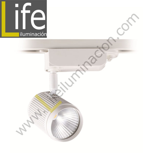 100/LED/18W/30K/WH/M SPOT LED P/ RIEL 18W 30K WH D:7.6X17