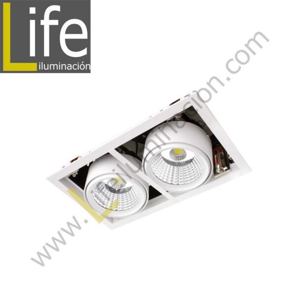 501/LED/50W/30K/WH SPOT LED P/EMPOTRAR 2X25W 3000K WH 220V/60HZ 3300 Lm – 4400 Lm 1